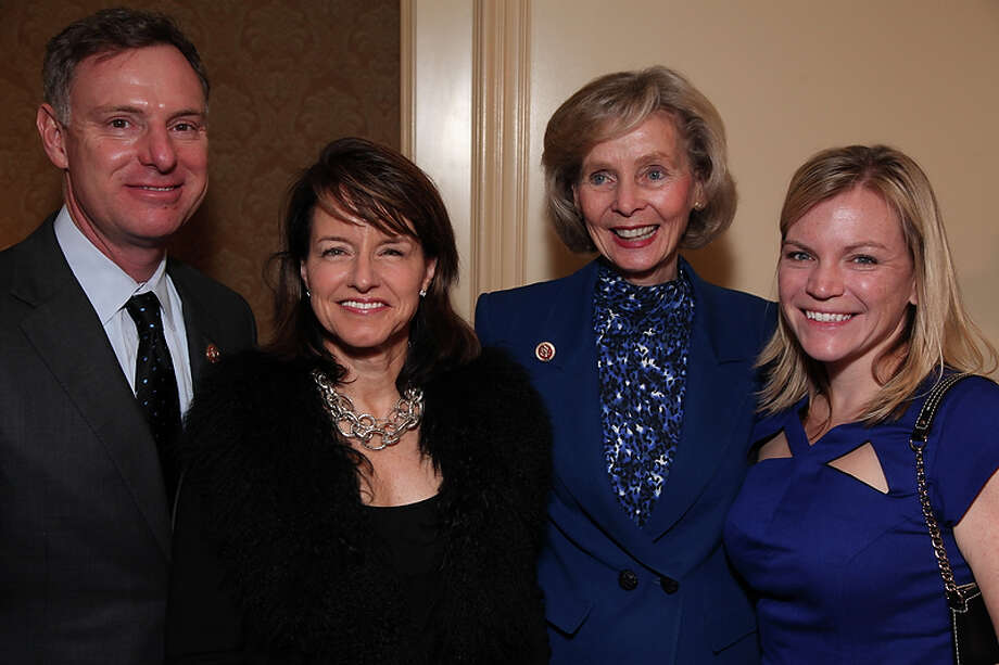 Congressman Scott Peters (CA-52) is joined by wife Lynn Gorguze, Congresswoman Lois Capps (CA-24) and Sarah Rubinfield as the California State Society and FIDM/Fashion Institute of Design & Merchandising present a Presidential Inaugural Luncheon and Fashion Show at the Ritz Cartlon Hotel in Washington, DC on Saturday, January 19, 2013. Photo: Alex J. Berliner, AP / ABImages