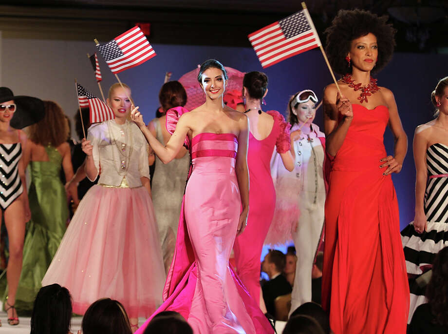 Presidential Inaugural Luncheon and Fashion Show featuring designs  by FIDM Advanced Fashion Design Students was presented by the California State Society and FIDM/Fashion Institute of Design & Merchandising. Ritz Cartlon Hotel in Washington, DC on Saturday, January 19, 2013. Photo: Alex J . Berliner, AP / BERLA