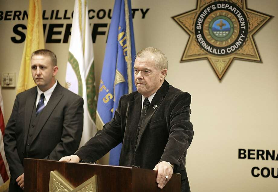 Bernalillo County Sheriff Dan Houston discusses the fatal shootings of five in a rural area near Albuquerque. Investigators said they were still determining the suspect's ties to the victims. Photo: Pat Vasquez-Cunningham, Associated Press