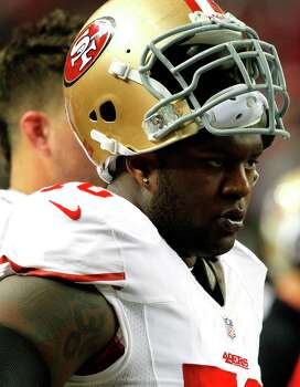 Offensive tackle Anthony Davis (76) during the first half of the San Francisco 49ers game against the Atlanta Falcons in the NFC Championship game at the Georgia Dome in Atlanta, GA., on Sunday January 20, 2013. Photo: Brant Ward, The Chronicle / ONLINE_YES