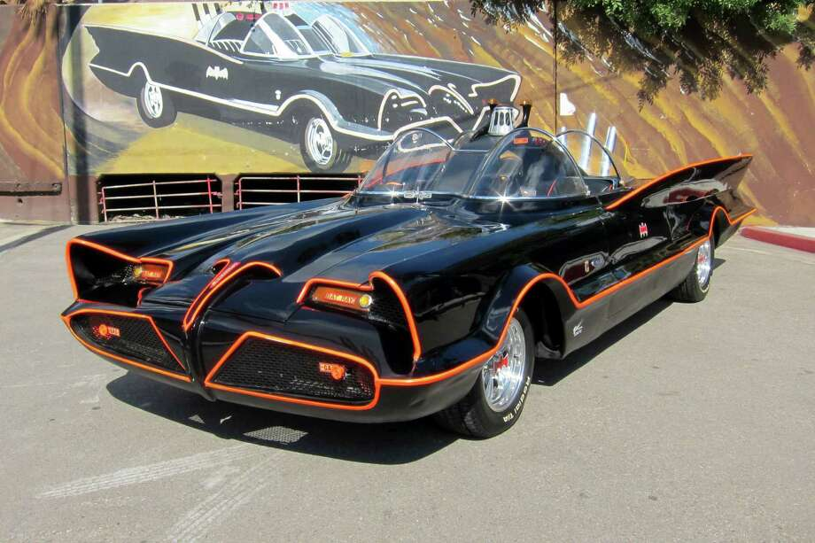 This October 2012 file photo provided by Barrett-Jackson/George Barris shows the original Batmobile in Los Angeles. Batman's original ride, from the 1960s TV series, has sold at auction for $4.2 million on Saturday, Jan. 19, 2013. (AP Photo/Courtesy Barrett-Jackson/George Barris, File) Photo: Barrett-Jackson