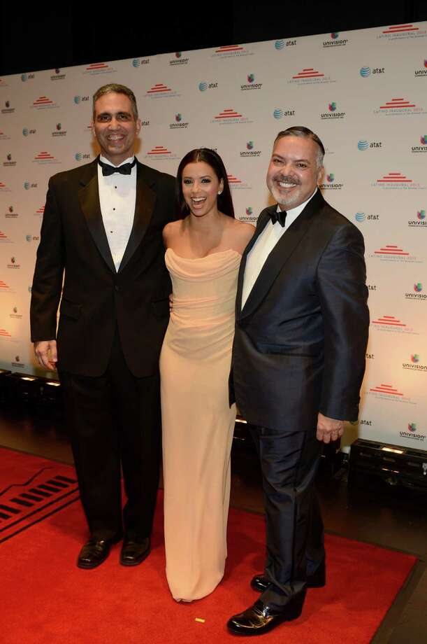San Juan attorney and activist Andres W. Lopez (from left), actress Eva Longoria and San Antonio philanthropist and business leader Henry Muñoz III attends Latino Inaugural 2013: In Performance at Kennedy Center at The Kennedy Center on January 20, 2013, in Washington, DC. Photo: Rick Diamond, Getty Images For Latino Inaugura / 2013 Getty Images
