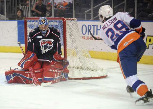 Bridgeport Sound Tigers v. Springfield Falcons at the Webster Bank Arena in Bridgeport on Sunday, January 20, 2013. Photo: Brian A. Pounds