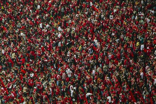 San Francisco 49ers fans inside the Georgia Dome in Atlanta Georgia for the NFC Championship on January 20, 2013. Photo: David Walter Banks