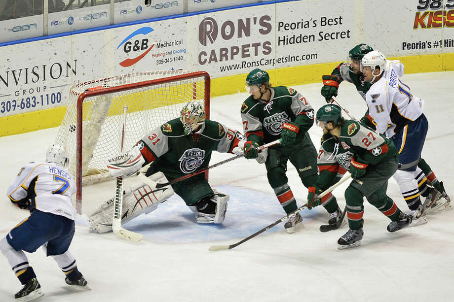 The Aeros couldn't hold on to a 2-1 first-period lead. Photo: Nathan Kerley Photography