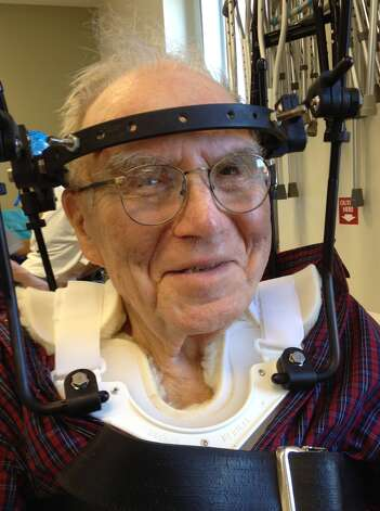 Photo by Paul Grondahl Bishop David Ball, 86, is recovering in Albany Medical Center Hospital after suffering a broken neck in a fall in July.