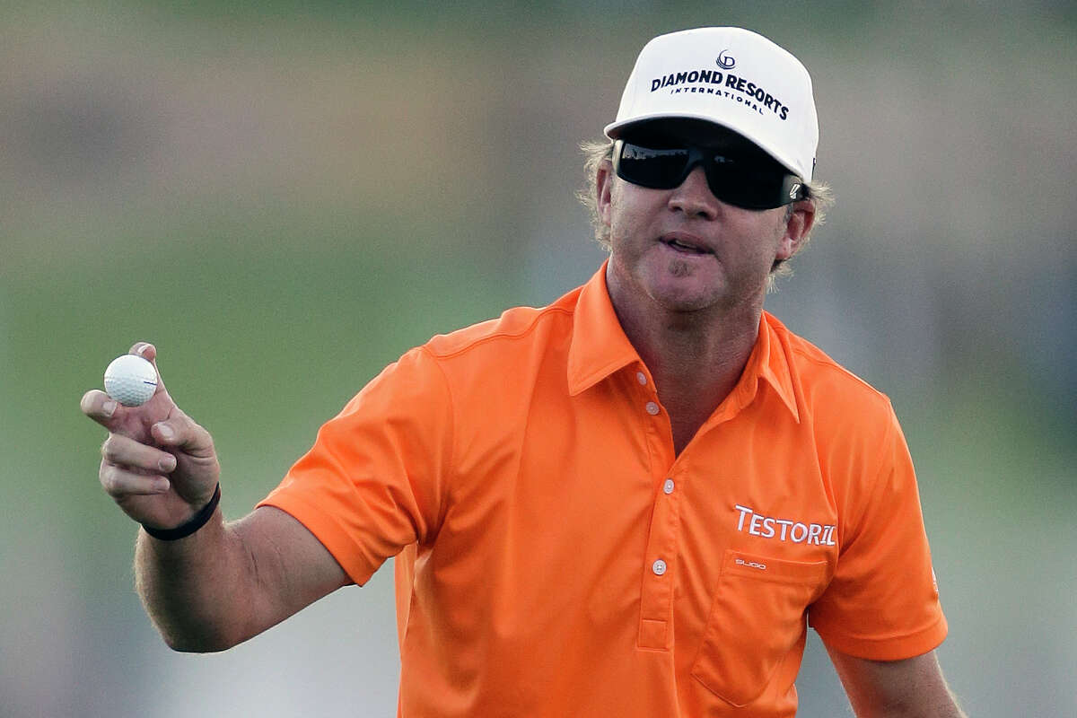 Brian Gay puts the finishing touch on a playoff win on Sunday for his fourth PGA Tour victory.