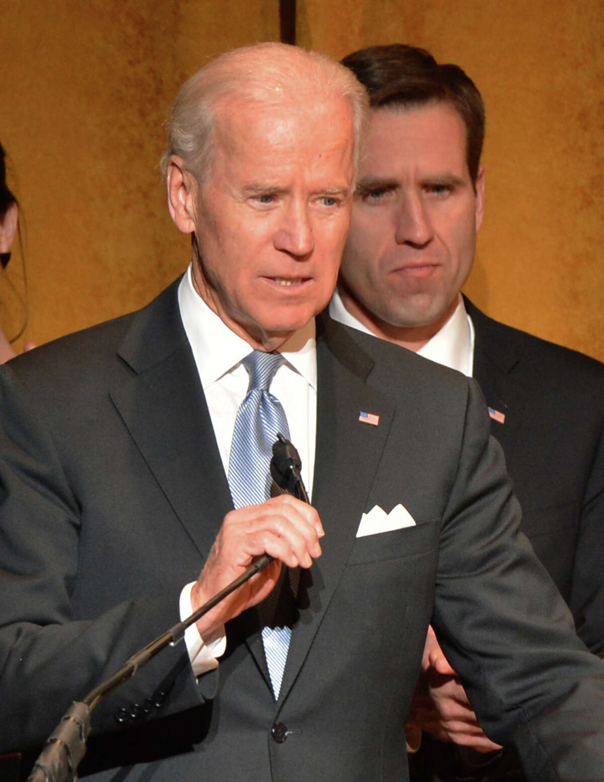WASHINGTON, DC - JANUARY 20: U.S. Vice President Joe Biden speaks at Latino Inaugural 2013: In Performance at Kennedy Center at The Kennedy Center on January 20, 2013 in Washington, DC.