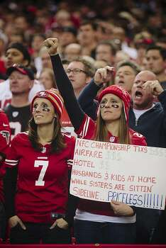 San Francisco 49ers fans inside the Georgia Dome in Atlanta Georgia for the NFC Championship on January 20, 2013.