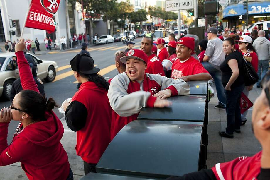 Will-G beat on a newspaper stand along Mission Street after the San Francisco 49er's beat the Atlanta Falcons in San Francisco, Calif., Sunday, January, 20, 2013. Photo: Jason Henry, Special To The Chronicle