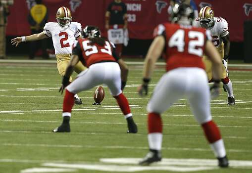 Kicker David Akers (2) in the fourth quarter of the San Francisco 49ers game against the Atlanta Falcons in the NFC Championship game at the Georgia Dome in Atlanta, GA., on Sunday January 20, 2013. Photo: Carlos Avila Gonzalez, The Chronicle