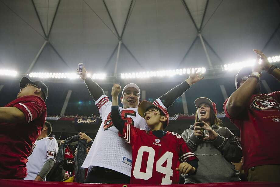 San Francisco 49ers fans inside the Georgia Dome in Atlanta Georgia for the NFC Championship on January 20, 2013.  Photo by David Walter Banks for The San Francisco Chronicle. Photo: David Walter Banks