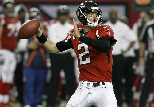 quarterback Matt Ryan (2) in the second quarter of the San Francisco 49ers game against the Atlanta Falcons in the NFC Championship game at the Georgia Dome in Atlanta, GA., on Sunday January 20, 2013. Photo: Brant Ward, The Chronicle