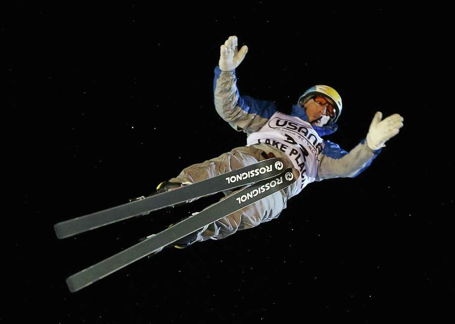 LAKE PLACID, NY - JANUARY 19: Clyde Getty #32 of Argentina jumps in the USANA Freestyle World Cup aerial competition at the Lake Placid Olympic Jumping Complex on January 19, 2013 in Lake Placid, New York. Photo: Bruce Bennett, Getty Images / 2013 Getty Images