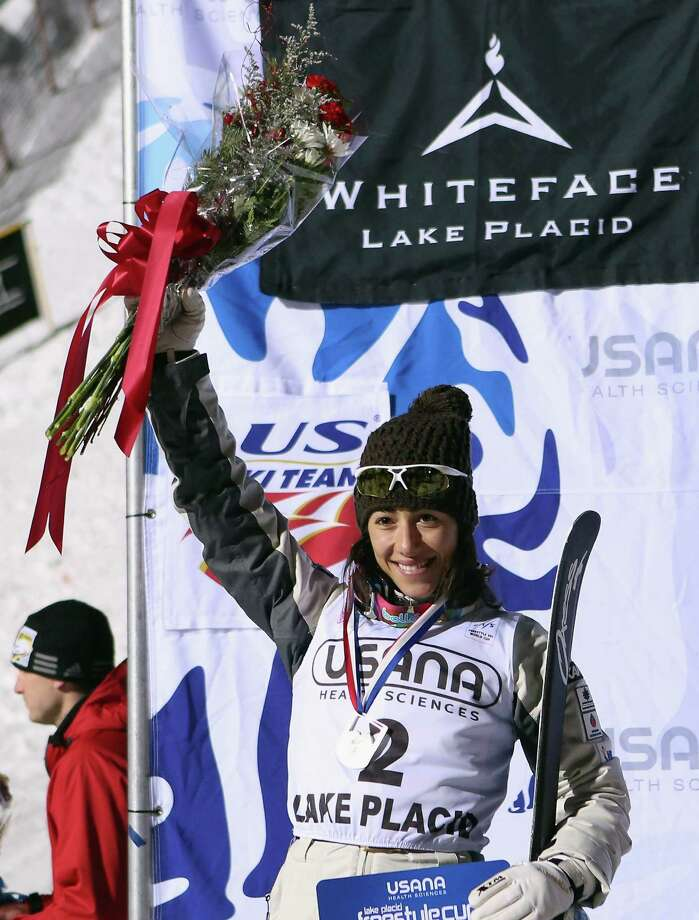 LAKE PLACID, NY - JANUARY 19: Lydia Lassila #2 of Australia takes second place in the USANA Freestyle World Cup aerial competition at the Lake Placid Olympic Jumping Complex on January 19, 2013 in Lake Placid, New York. Photo: Bruce Bennett, Getty Images / 2013 Getty Images