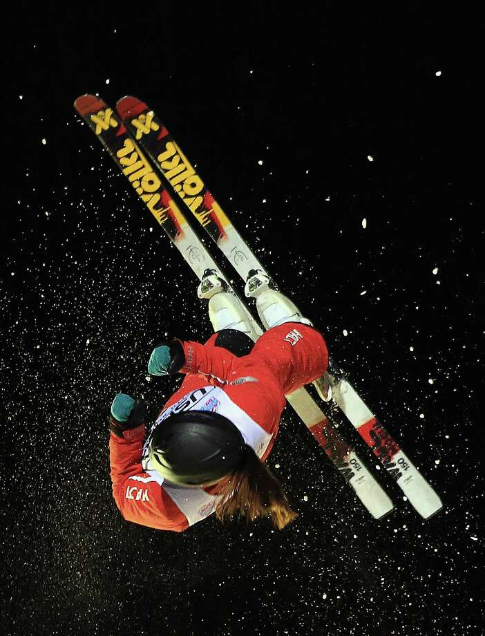 LAKE PLACID, NY - JANUARY 19: Yu Yang #3 of China jumps in the USANA Freestyle World Cup aerial competition at the Lake Placid Olympic Jumping Complex on January 19, 2013 in Lake Placid, New York. Photo: Bruce Bennett, Getty Images / 2013 Getty Images