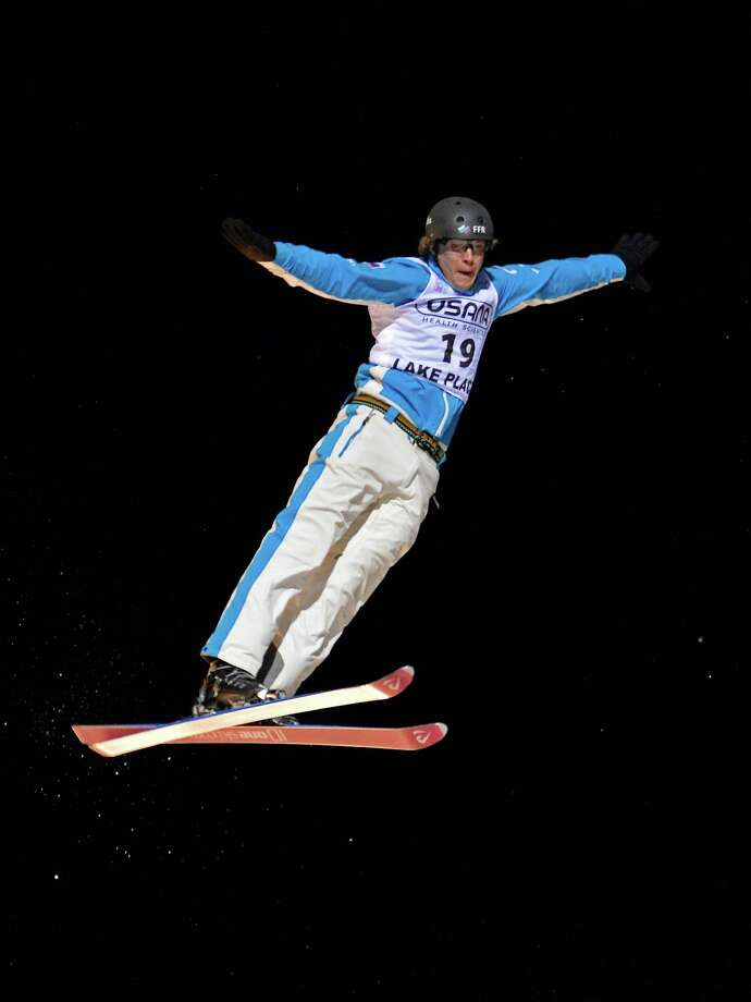 Timofei Slivets, of Russia, competes in the men's aerials World Cup freestyle skiing event held in Lake Placid, N.Y., on Saturday, Jan. 19, 2013. Photo: John DiGiacomo, AP / FR170780 AP