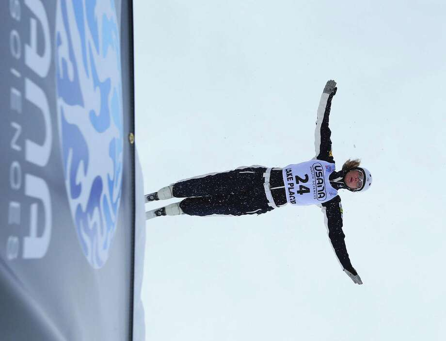LAKE PLACID, NY - JANUARY 19: Kiley McKinnon #24 of the USA practices prior to the USANA Freestyle World Cup aerial competition at the Lake Placid Olympic Jumping Complex on January 19, 2013 in Lake Placid, New York. Photo: Bruce Bennett, Getty Images / 2013 Getty Images