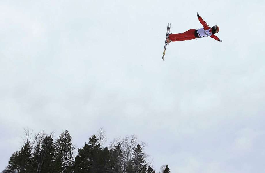 LAKE PLACID, NY - JANUARY 19: Xin Zhang #6 of China warms up before the USANA Freestyle World Cup aerial competition at the Lake Placid Olympic Jumping Complex on January 19, 2013 in Lake Placid, New York. Photo: Bruce Bennett, Getty Images / 2013 Getty Images