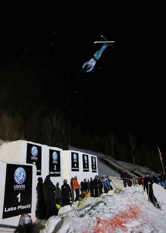 LAKE PLACID, NY - JANUARY 19: Sergei Berestovskiy #29 of Kazakhstan jumps in the USANA Freestyle World Cup aerial competition at the Lake Placid Olympic Jumping Complex on January 19, 2013 in Lake Placid, New York. Photo: Bruce Bennett, Getty Images / 2013 Getty Images