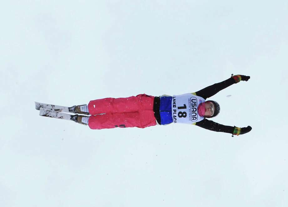 LAKE PLACID, NY - JANUARY 19: Anastasiya Novosad #18 of the Ukraine warms up before the USANA Freestyle World Cup aerial competition at the Lake Placid Olympic Jumping Complex on January 19, 2013 in Lake Placid, New York. Photo: Bruce Bennett, Getty Images / 2013 Getty Images