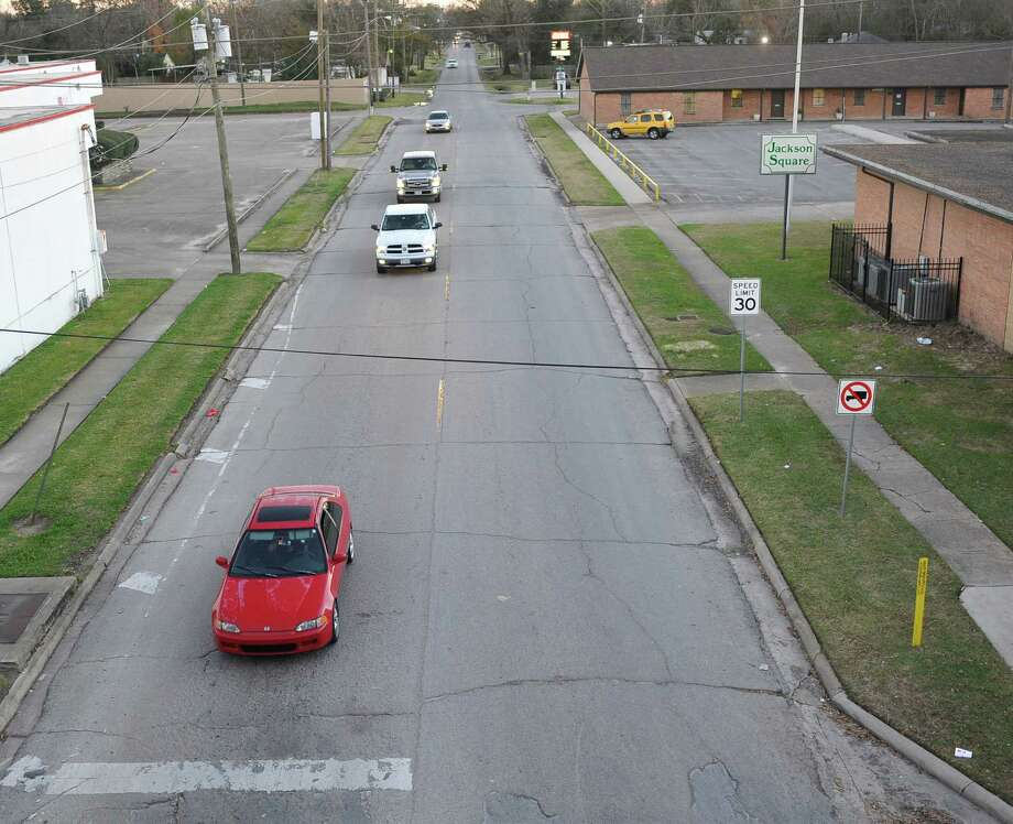 Construction is expected to start in the next few months on numerous roads in Beaumont. One such road is 7th Street, from here where it meets the IH-10 service road to Laurel Street. Dave Ryan/The Enterprise
