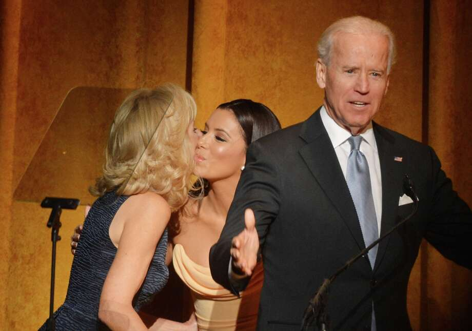 (L-R) Jill Biden, actress Eva Longoria and U.S. Vice President Joe Biden speak at Latino Inaugural 2013: In Performance at Kennedy Center at The Kennedy Center on January 20, 2013 in Washington, DC. Photo: Rick Diamond, Getty Images For Latino Inaugura / 2013 Getty Images