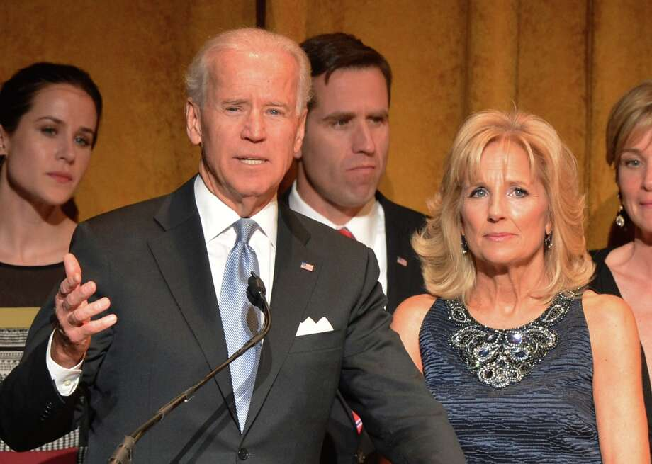 U.S. Vice President Joe Biden and Jill Biden speak at Latino Inaugural 2013: In Performance at Kennedy Center at The Kennedy Center on January 20, 2013 in Washington, DC. Photo: Rick Diamond, Getty Images For Latino Inaugura / 2013 Getty Images