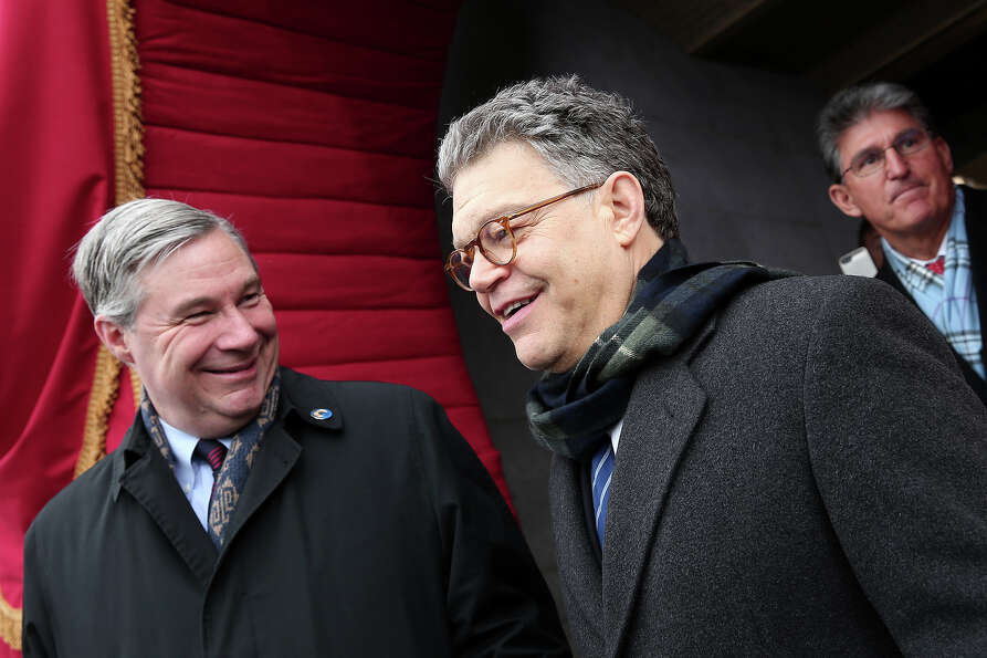 WASHINGTON, DC - JANUARY 21: U.S. Sen. Al Franken (D-MN) arrives for the presidential inauguration o