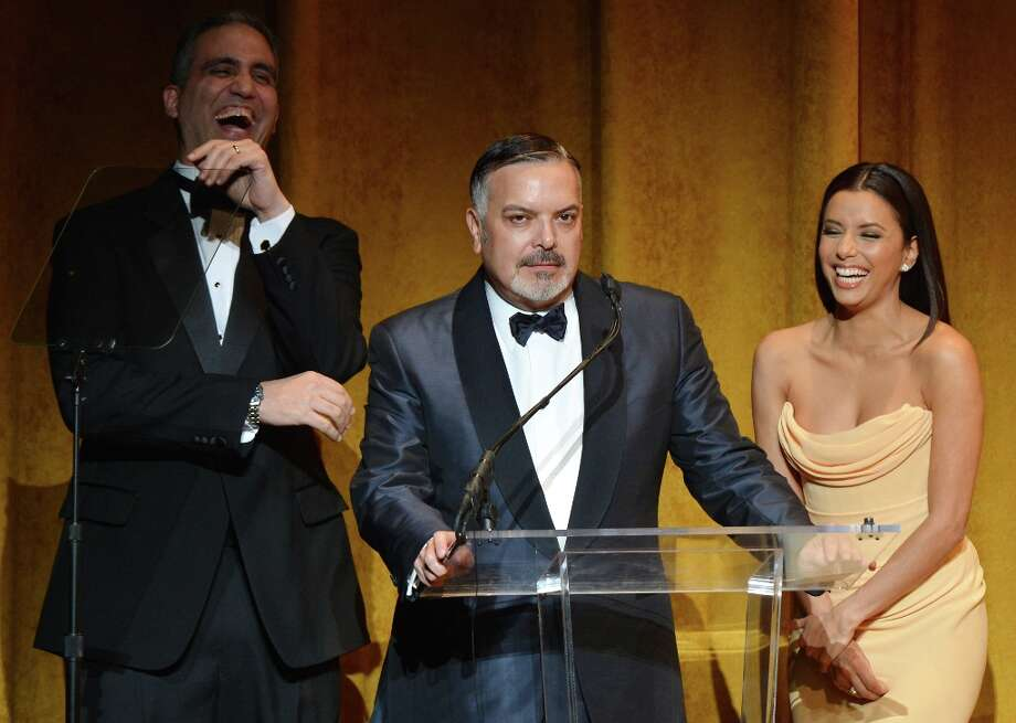 (L-R)  Andres W. Lopez, Henry Munoz III and Eva Longoria speak at Latino Inaugural 2013: In Performance at Kennedy Center at The Kennedy Center on January 20, 2013 in Washington, DC. Photo: Rick Diamond, Getty Images For Latino Inaugura / 2013 Getty Images