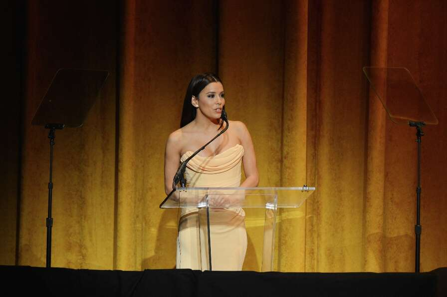 Actress Eva Longoria speaks at Latino Inaugural 2013: In Performance at Kennedy Center at The Kenned