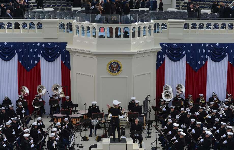 The US Marine Band performs for the 57th Presidential Inauguration at the US Capitol on January 21, 2013 in Washington, DC. Photo: JEWEL SAMAD, AFP/Getty Images / AFP