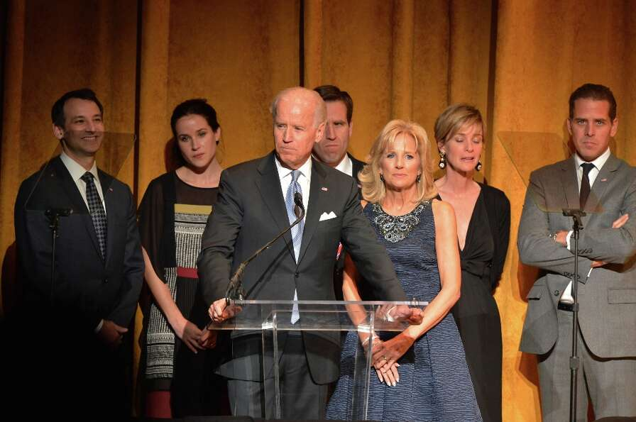 U.S. Vice President Joe Biden and Jill Biden (C) speak at Latino Inaugural 2013: In Performance at K