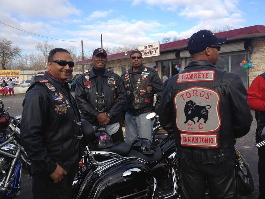 Every year since 1999, the Toros Motorcycle Club has been coming to the MLK march. Photo: Sarah Tressler/Express-News
