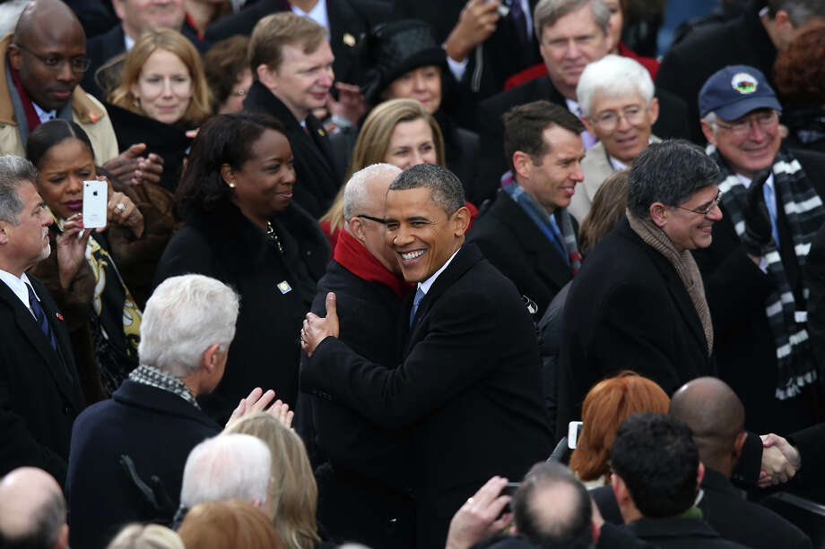 WASHINGTON, DC - JANUARY 21:  U.S. President Barack Obama arrives during the presidential inauguration on the West Front of the U.S. Capitol January 21, 2013 in Washington, DC.   Barack Obama was re-elected for a second term as President of the United States. Photo: Mark Wilson, Getty Images / 2013 Getty Images