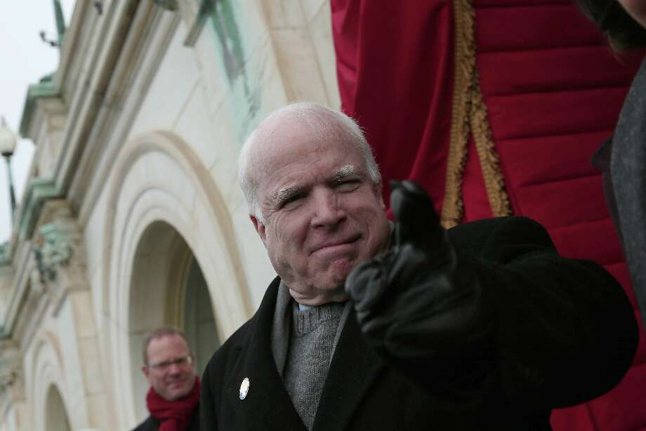 Sen. John McCain, R-Ariz. arrives on the West Front of the Capitol in Washington, Monday, Jan. 21, 2013, for the Presidential Barack Obama's ceremonial swearing-in ceremony during the 57th Presidential Inauguration. Photo: Win McNamee, Associated Press / Pool Getty Images North America