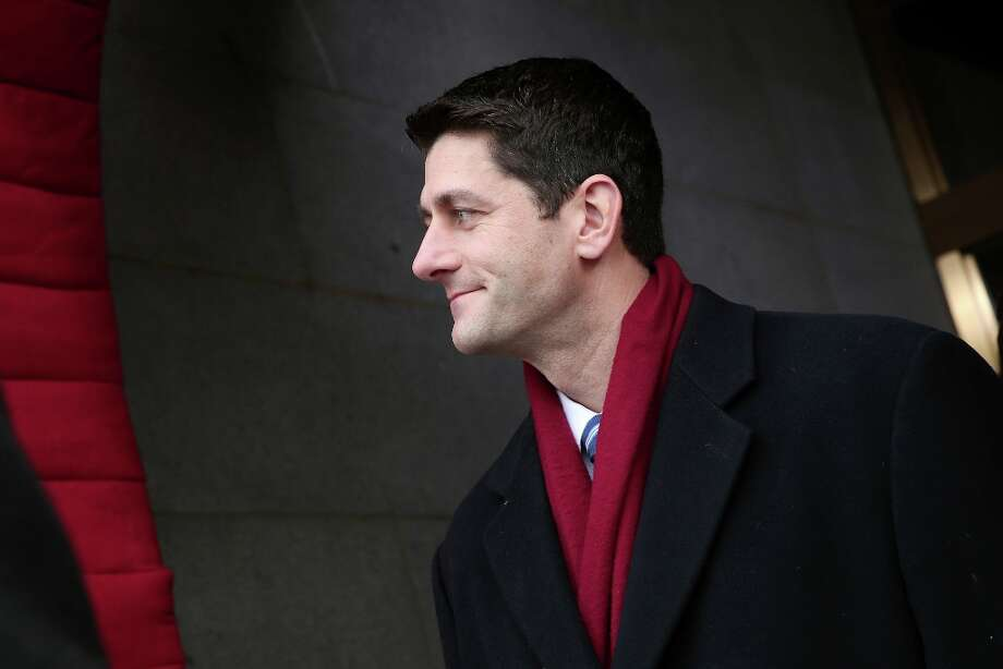 House Budget Committee Chairman Rep. Paul Ryan, R-Wis. arrives on the West Front of the Capitol in Washington, Monday, Jan. 21, 2013, for the Presidential Barack Obama's ceremonial swearing-in ceremony during the 57th Presidential Inauguration. Photo: Win McNamee, Associated Press / Pool Getty Images North America