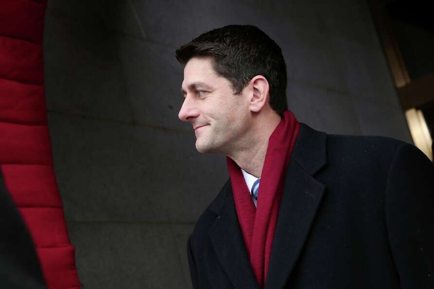 House Budget Committee Chairman Rep. Paul Ryan, R-Wis. arrives on the West Front of the Capitol in W