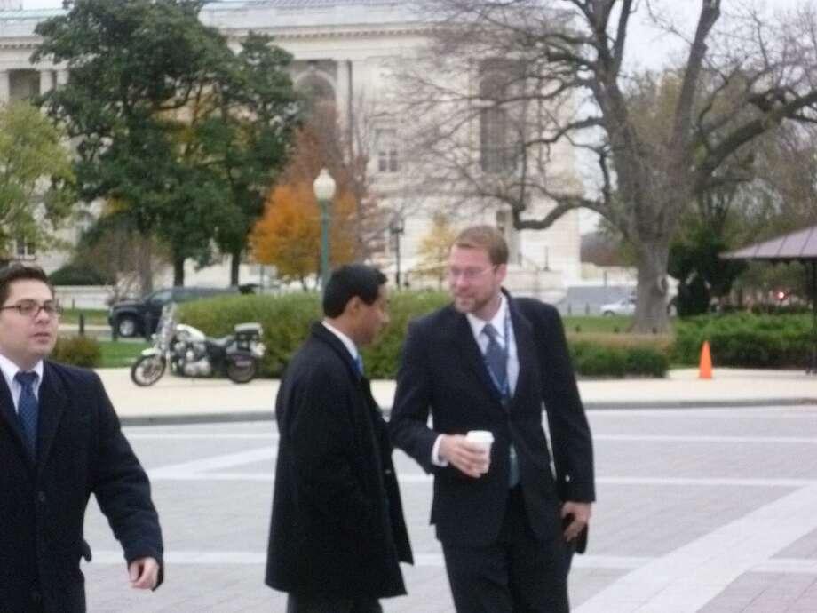 Joaquin Castro at the Capitol on Nov. 15.