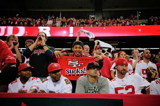 San Francisco 49ers fans inside the Georgia Dome in Atlanta Georgia for the NFC Championship on January 20, 2013. Photo: David Walter Banks / ONLINE_YES