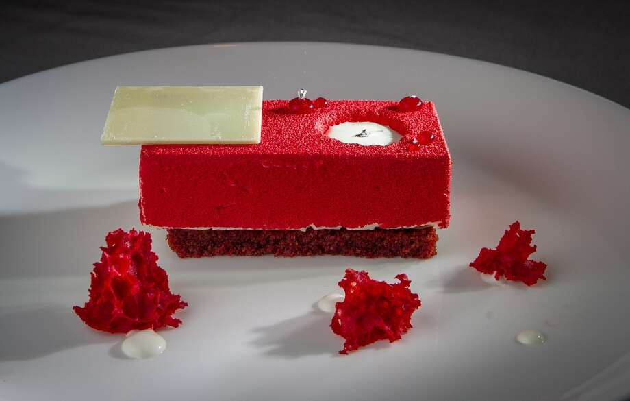 Desserts are stylized but not very satisfying. Pictured: The Red Velvet Dessert