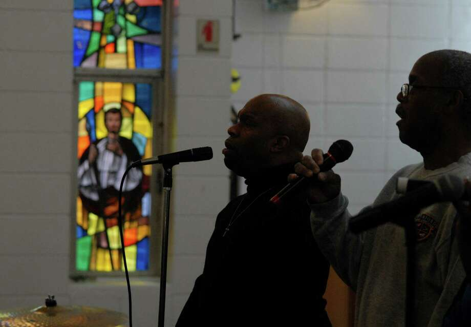 Martin Luther King Jr. Day rally at Bethel A.M.E. Church before march and celebration following the march at the Yerwood Center in Stamford, Conn. on Monday January 21, 2013. Photo: Dru Nadler / Stamford Advocate Freelance