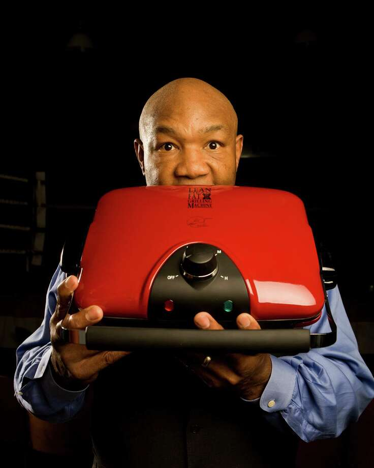 "George Foreman is best known outside of boxing for the""George Foreman Grill"", which is also called the ""George Foreman Lean Mean Fat-Reducing Grilling Machine."" Yum! Let's get grilling!  Photo: Robert Seale, For The Chronicle / Freelance"