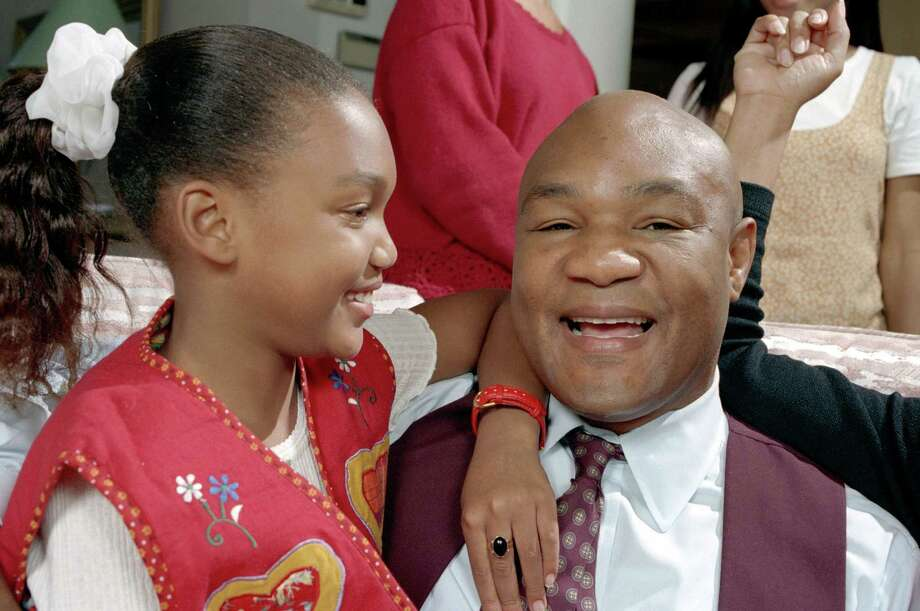 George Foreman is a big family man. He has five boys (all named George) and five girls for a total of 10 kids.  Photo: D. Fahleson, Houston Chronicle / Houston Chronicle