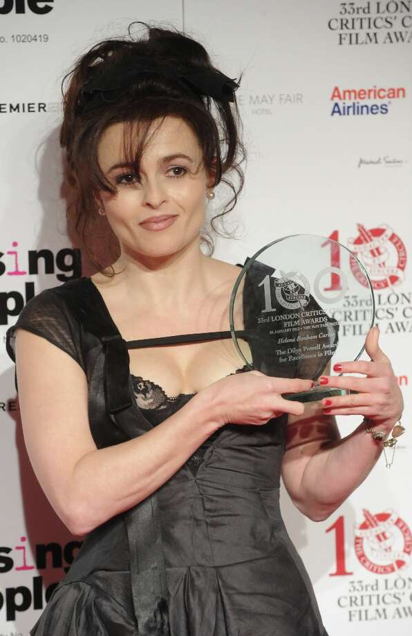 Helena Bonham Carter poses in the press room at the London Critics' Circle Film Awards at The Mayfair Hotel on January 20, 2013 in London, England. Photo: Stuart Wilson, Getty Images / 2013 Getty Images