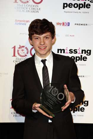 Tom Holland seen at the 33rd London Critics Circle Film Awards at the May Fair Hotel on Sunday, Jan. 20, 2013, in London. Holland won the award for Young British Performer of the Year. Photo: Jon Furniss Photography, Associated Press / Invision