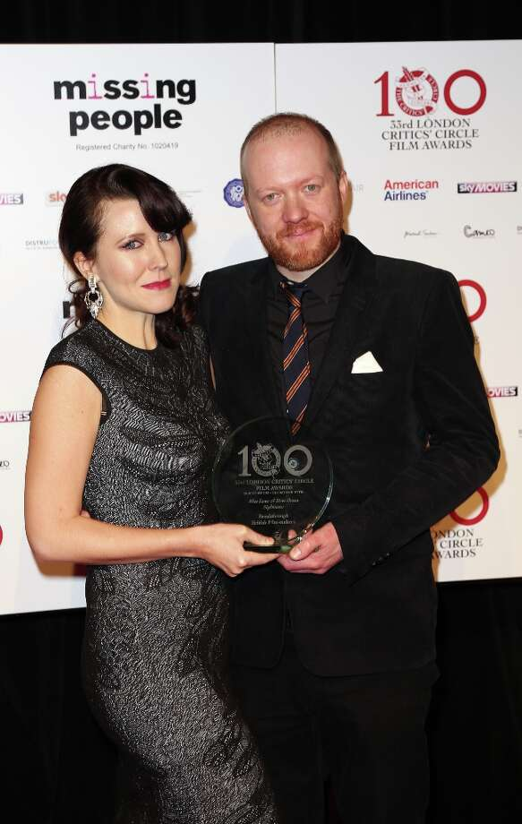 Alice Lowe and Steve Oram seen at the 33rd London Critics Circle Film Awards at the May Fair Hotel on Sunday, Jan. 20, 2013, in London. Lowe and Oram won the award for Breakthrough British Filmmakers. Photo: Jon Furniss Photography, Associated Press / Invision