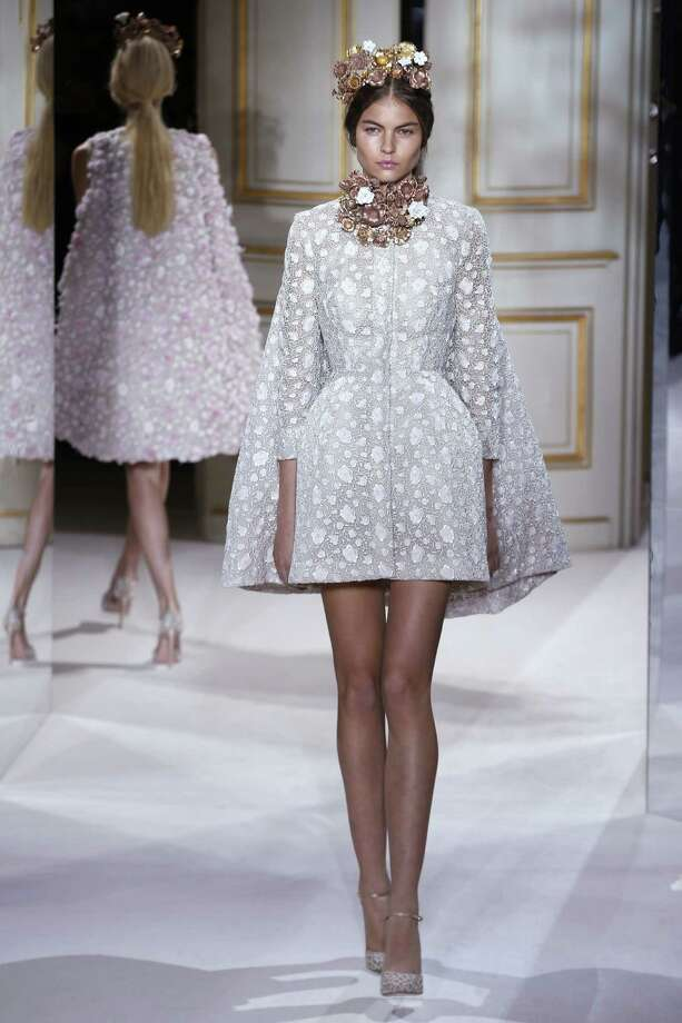 If any young starlet should decide to wear this number and is planning to exit a limo, adding pants would probably be a good idea. A model presents a creation by Italian fashion designer Giambattista Valli during the Haute Couture Spring-Summer 2013 collection shows. Photo: FRANCOIS GUILLOT, AFP/Getty Images / AFP