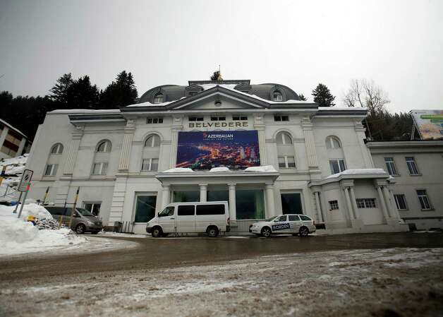 The exterior of the Belvedere hotel is seen in Davos, Switzerland, on Monday, Jan. 2013. This week the business elite gathers in the Swiss Alps for the 43rd annual meeting of the World Economic Forum in Davos, the five day event runs from Jan. 23-27. Photographer: Simon Dawson/Bloomberg Photo: Simon Dawson, Bloomberg / Copyright 2013 Bloomberg Finance LP, All Rights Reserved.