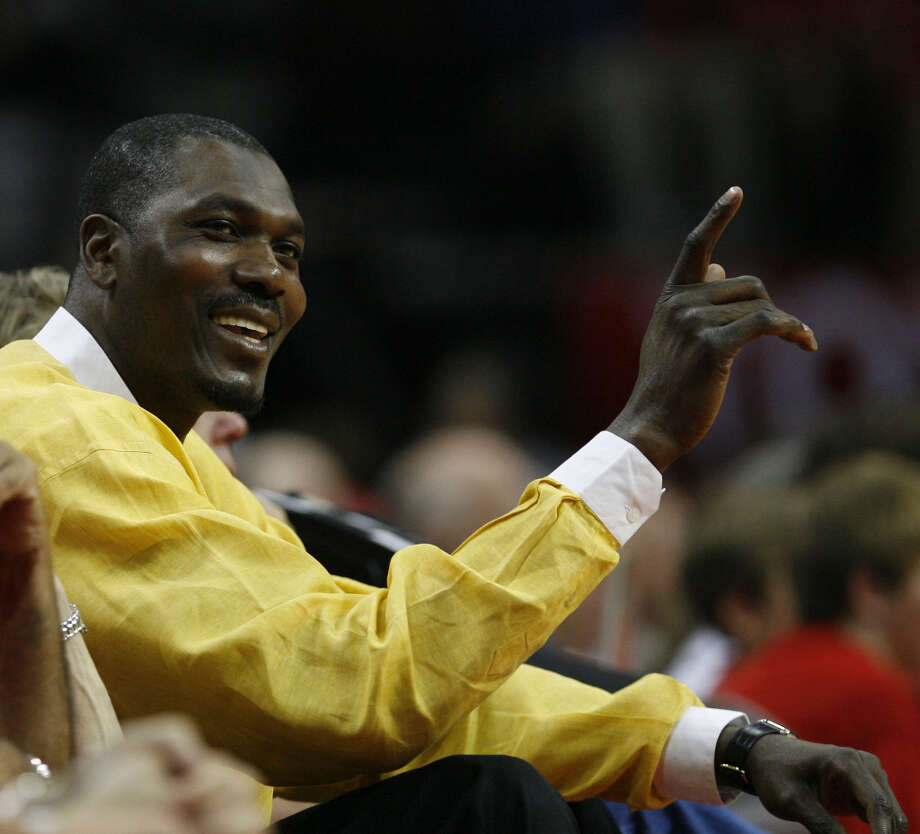 Still a fan of the game and the Rockets, Hakeem can be seen sitting courtside from time to time. Photo: James Nielsen, Houston Chronicle / Houston Chronicle